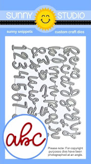 Sunny Studio Stamps: Loopy Letters Script Alphabet & Number Low Profile Metal Cutting Die Set