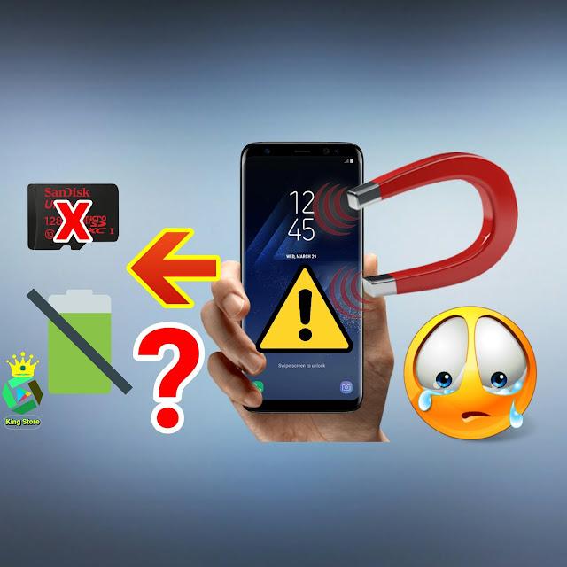 بالفيديو : شاهد  ماذا يحدث عند تقريب الهاتف بمغناطيس 😭