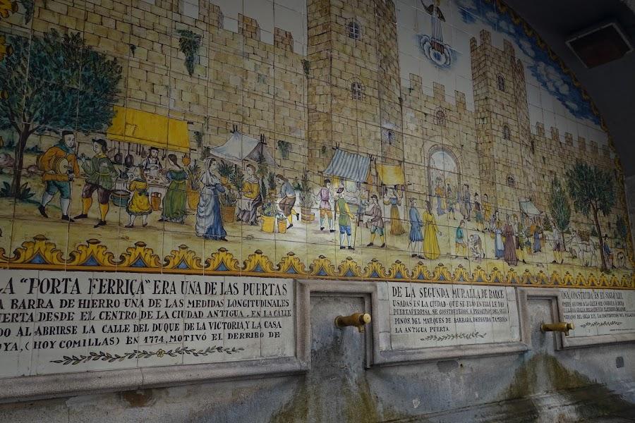 プルタフェリサの噴水(Font de la Portaferrissa)