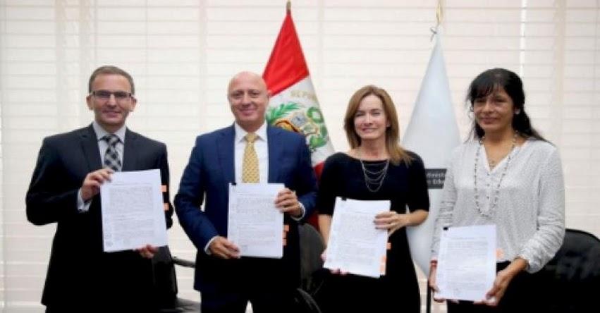 MINEDU y Banco de Crédito firman convenios de obras por impuestos por S/ 33 millones - www.minedu.gob.pe