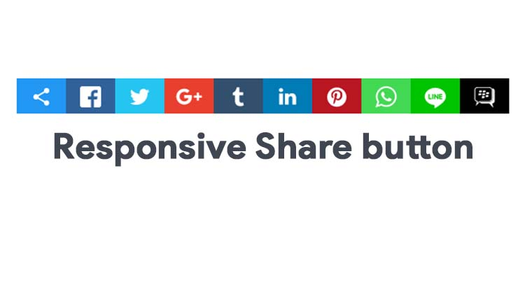 Responsive Social Share Buttons For Blogger With CSS Only