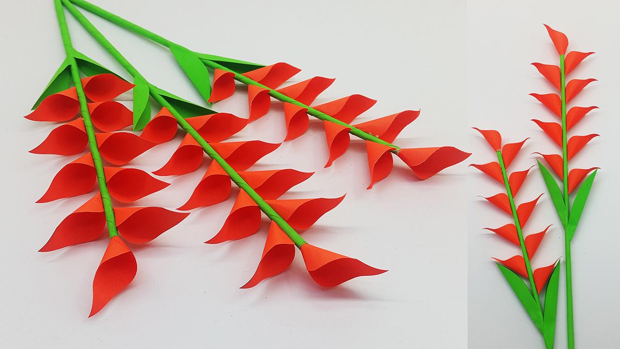 DIY Paper Flowers easy making tutorial (Origami Flower) - Paper ... | 720x1280