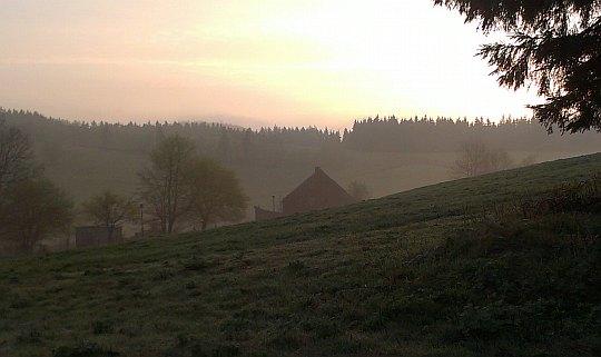 Wczesny poranek na Przełęczy Trzech Dolin.