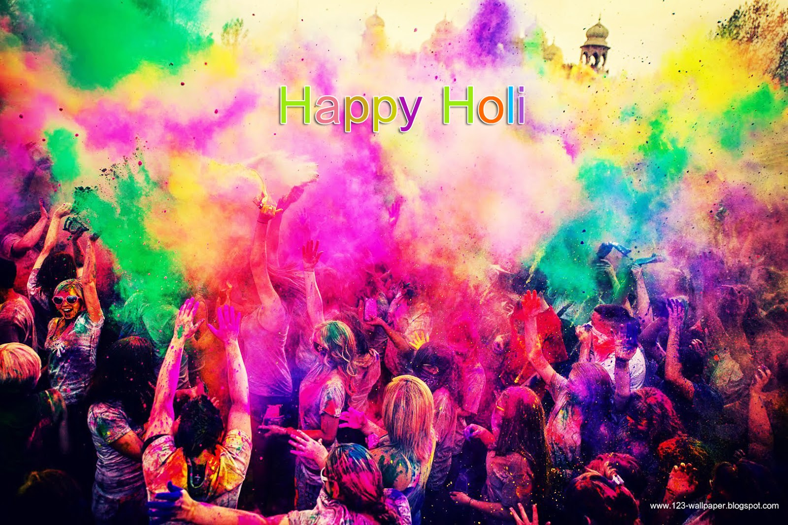 Holi Photo: Happy Holi HD Wallpaper & SMS Messsages