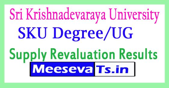 Sri Krishnadevaraya University UG/Degree Supply Revaluation Results 2017