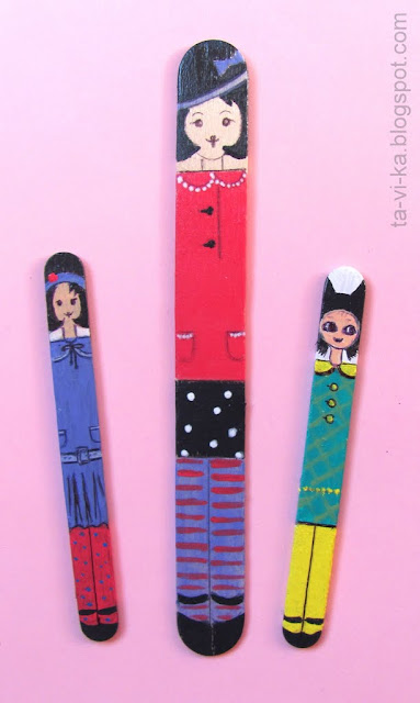 рисование на палочках от мороженого sticks ice cream craft