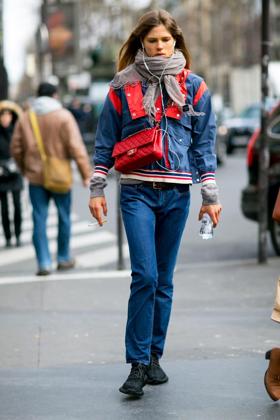 Street Style: Caroline Brasch Nielsen's '90s Sporty Look