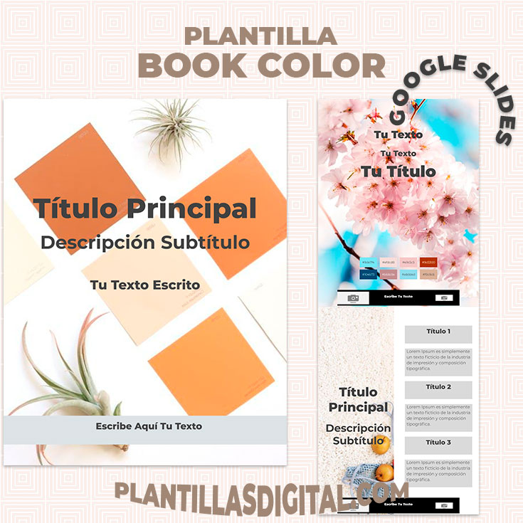 plantilla book color para google slides