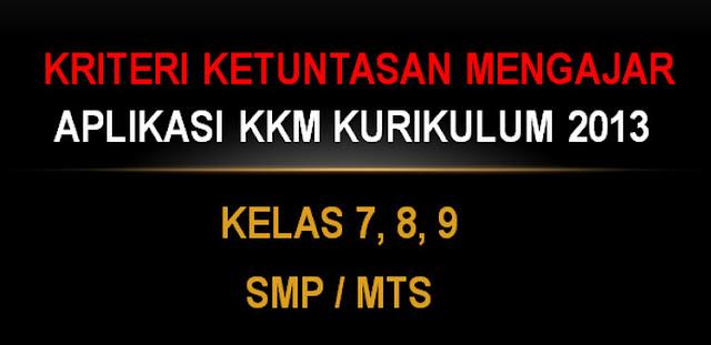 Aplikasi K K M SMP Kelas 7, 8, 9 K-2013 Excel