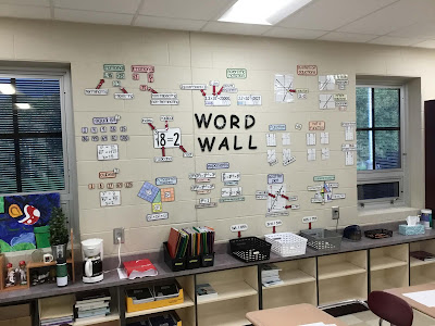 Mr. Holdren math word wall