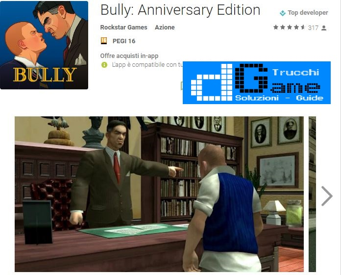 Trucchi Bully: Anniversary Edition Mod Apk Android v1.0.0.14