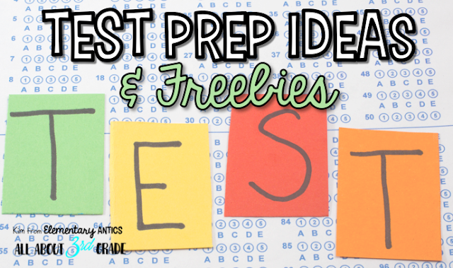 Check out this list of test prep posts, resources and freebies to help you in your classroom!