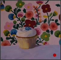 dessert,desserts,oil painting,art,artwork,pattern,cupcake,still life
