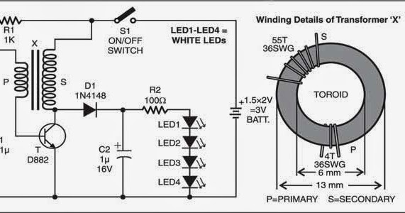Wiring & Diagram Info: Simple LED Torch Wiring Diagram