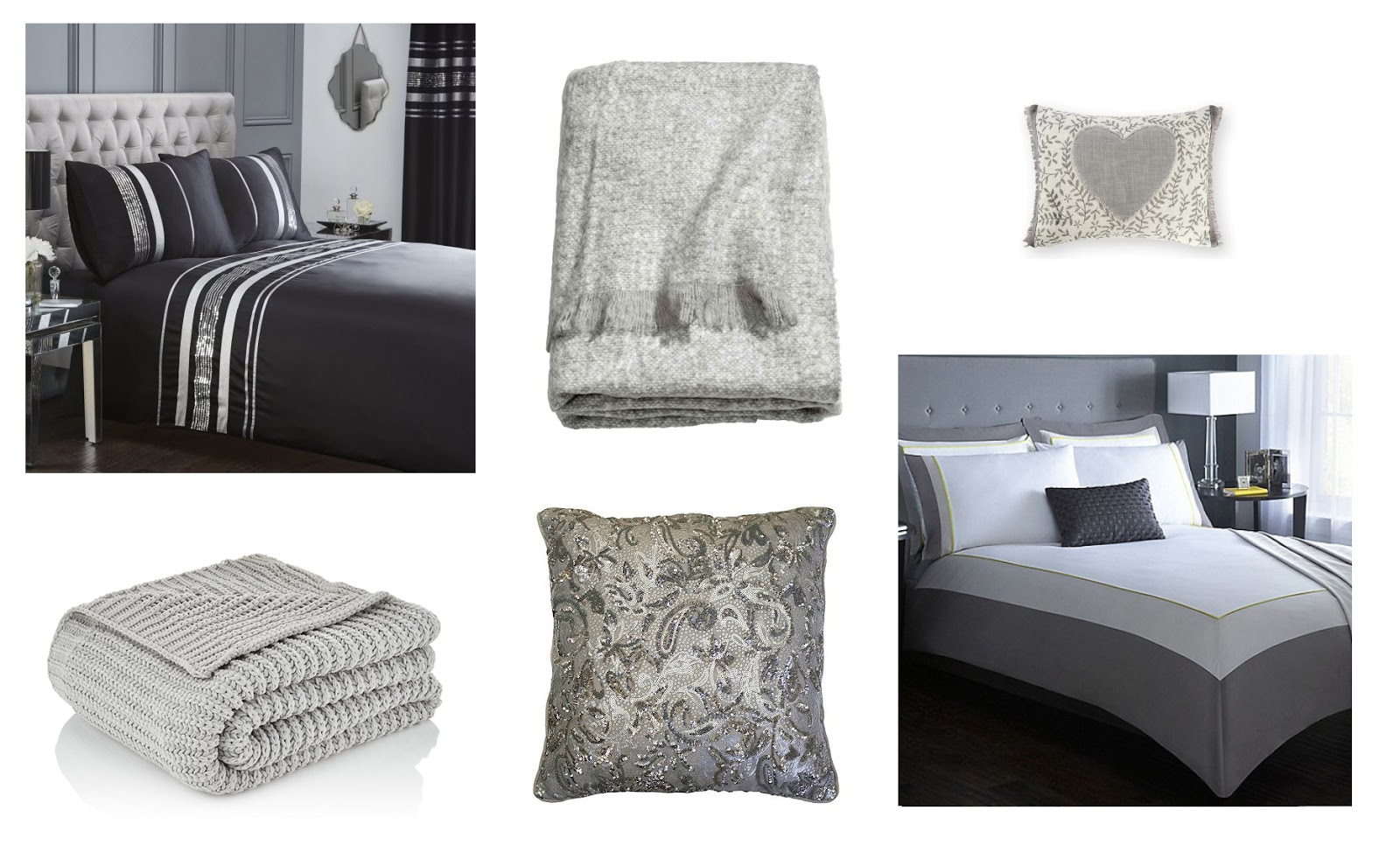 Bedding For Changing Your Bedroom Atomsphere: Monochrome Moodboard | Katie Kirk Loves