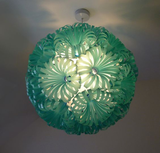 lampu dari botol plastik bekas