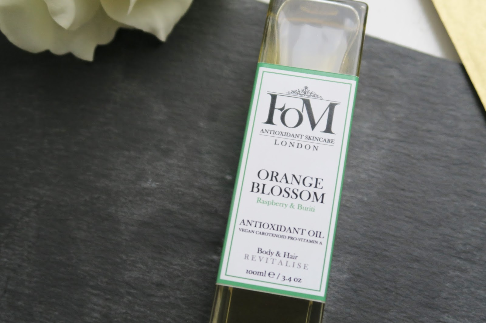 FOM London Skincare Orange Blossom Hair & Body Oil