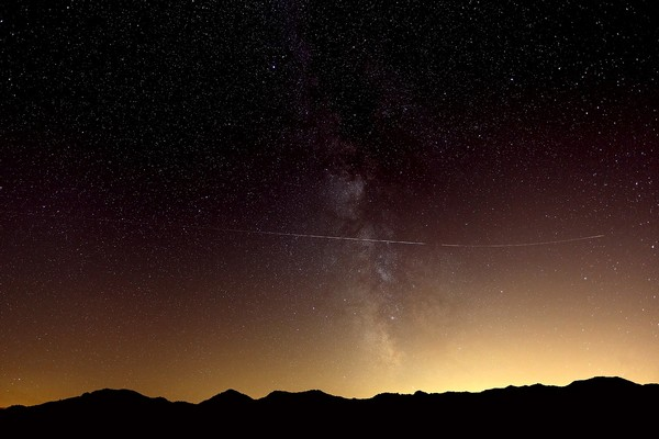 paysage étoiles nuit
