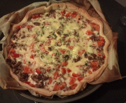 Minced meat quiche