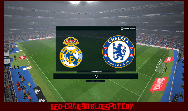 PES 2017 Real Madrid TV Scoreboard