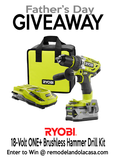 Ryobi drill giveaway for Father's day