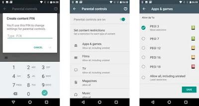 طريقة استخدام وضع الرقابة الأبوية على الاندرويد - تقييد المحتوى في جوجل بلاي