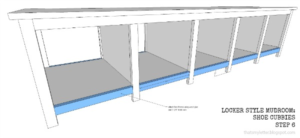 diy locker style mudroom shoe cubbies free plans