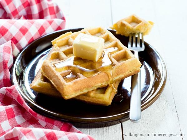Easy homemade waffles with freezing tips | Walking on Sunshine.