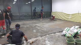 Pengerjaan Screeding dan Finish Trowel, Graha Rubina, Kuningan - Jakarta