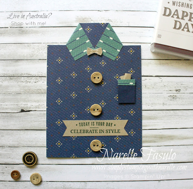 Make amazing male cards so easily with this Truly Tailored Bundle. You get a fantastic stamp set and coordinating  punch. Get yours here - http://bit.ly/2KjAOjy