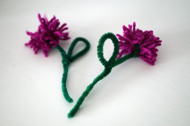 Kwiaty z wełny