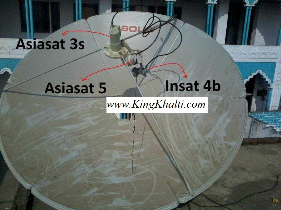 Setting Asiasa5,Asiasat7 and Insat3a on 1 Dish Tutorial in