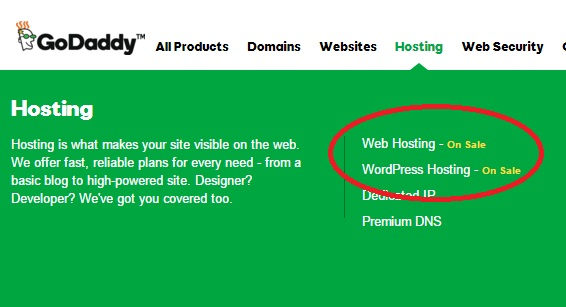 GoDaddy Hosting 1$: nên chọn WordPress Hosting hay Web Hosting?