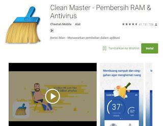 Aplikasi Anti Virus Android Paling Ampuh Nomor 2 Clean Master