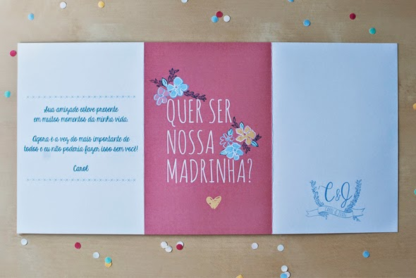 Convite Madrinha de Casamento