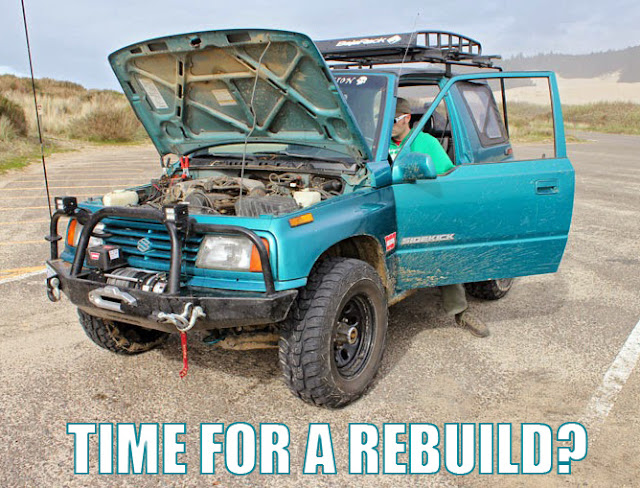 Time to rebuild the engine in the Sidekick?
