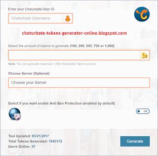 chaturbate tokens generator online