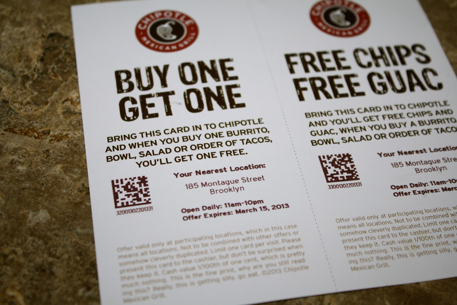 Chipotle discount coupons