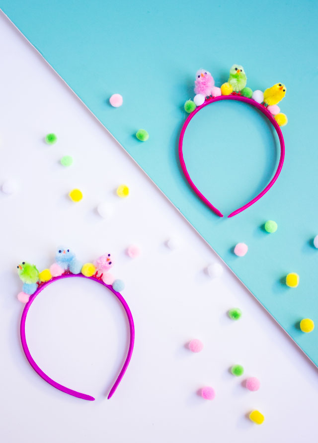 Make these DIY kids Easter headbands in under 5 minutes!