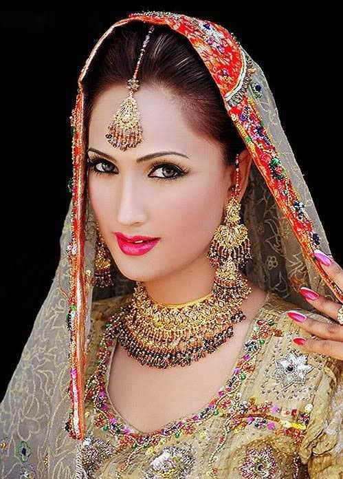 Bridal Dresses: Indian bridal makeup pictures