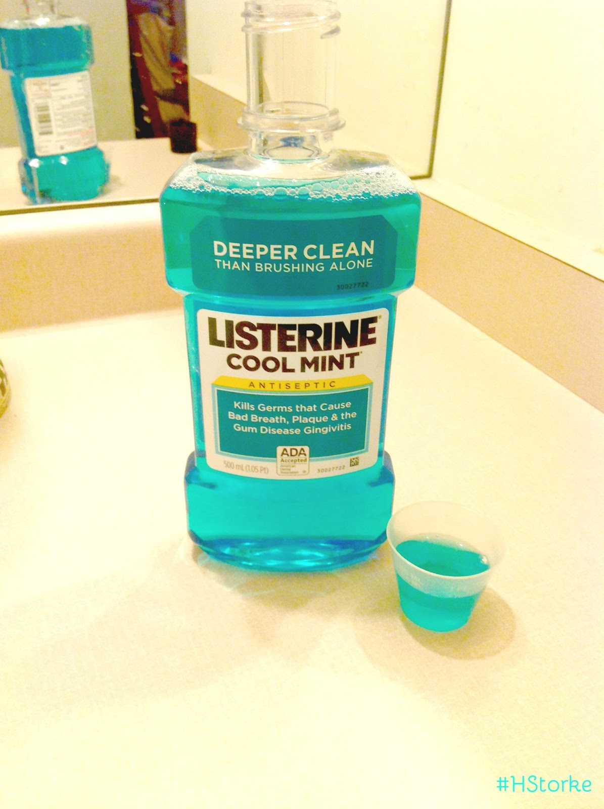 how to use listerine cool mint mouthwash