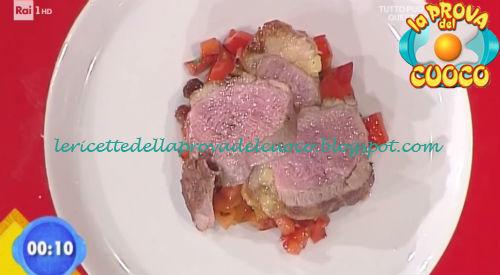 Petto d'anatra con riduzione di Lagrein e peperoni appassiti ricetta Improta da Prova del Cuoco