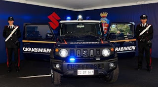 Suzuki Jimny Jadi Kendaraan Polisi Militer Italia