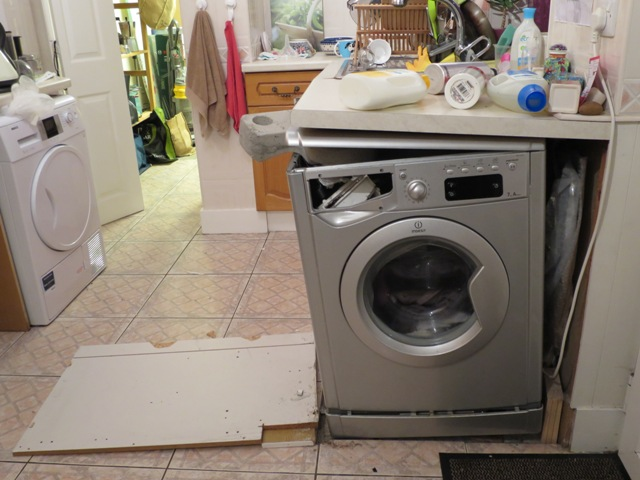 Crumpet: The washing machine exploded today