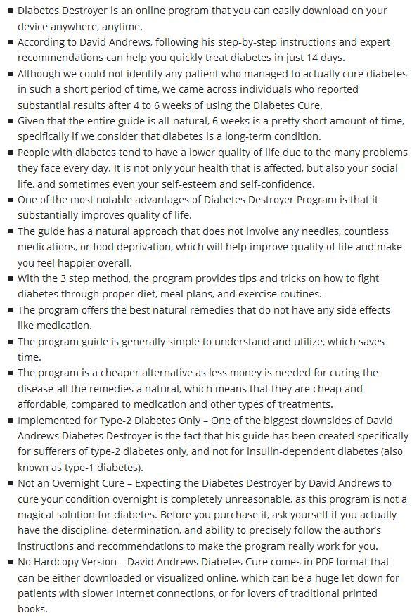 Diabetes destroyer system review david andrews ebook pdf download how does diabetes destroyer program work fandeluxe Gallery