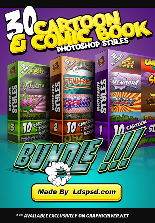 Pack de 30 estilos [PHOTOSHOP] en PSD de Comic´s