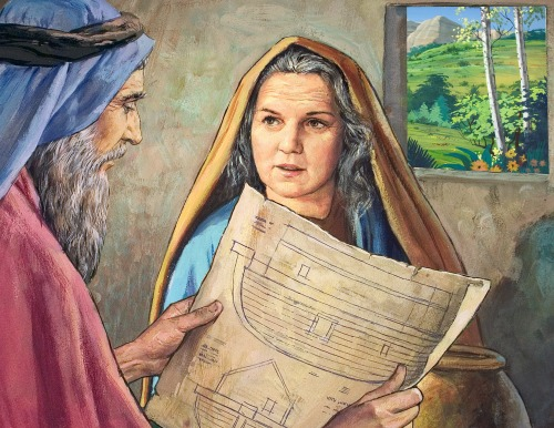 Noah's Wife served God with a 'meek and quiet spirit' (1 Peter 3:4).