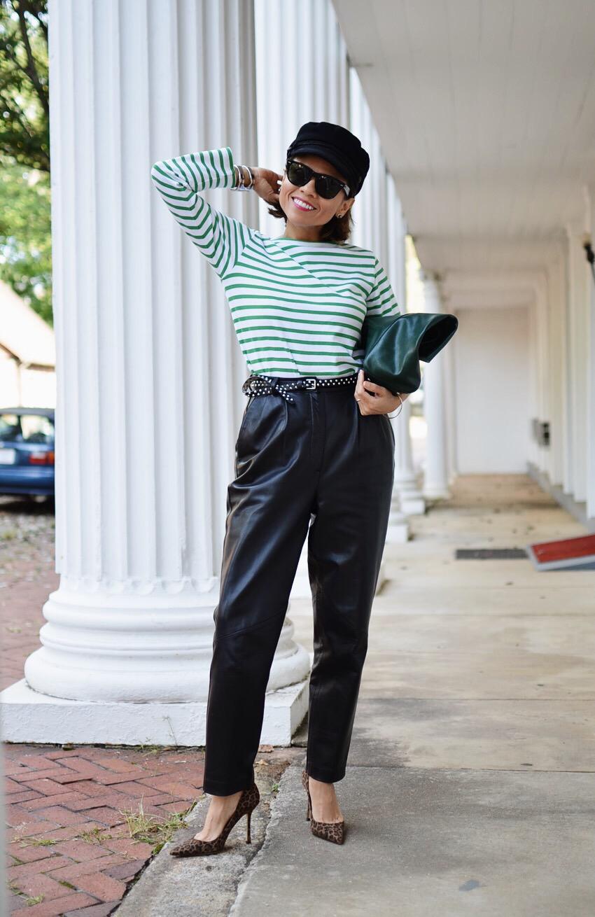 Black Leather Pants Street Style