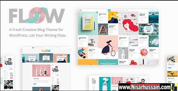 Flow - A Fresh Creative Blog WordPress Premium Theme