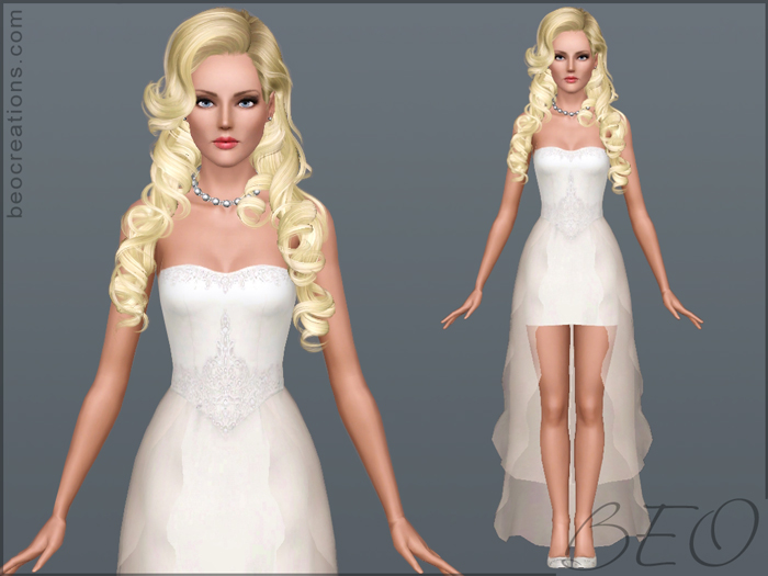 My Sims 3 Blog: Wedding Dress 20 By BEO